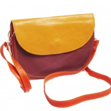 Color Blast Leather Cross Body