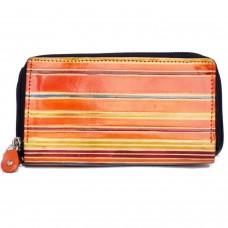 Color Blast Handcrafted Leather Clutch