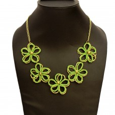 Neon Green Flower Necklace
