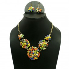 Multicolor Flowers necklace