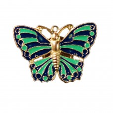 Trendy enamelled butterfly brooch