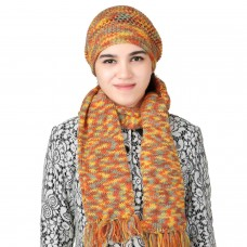 Stylish Multicolor Handmade Cap and Muffler