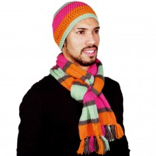 Stylish fluorescent handmade muffler and cap