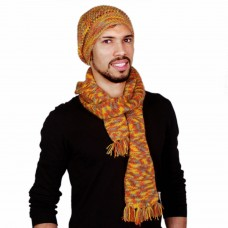 Stylish Multicolor Handmade Muffler and Cap