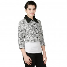 Posh Black and White Lace Jacket