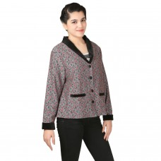 Posh Single breasted Dual tone Lace Coat