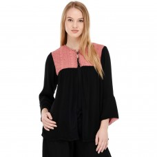 Black cotton Shrug top