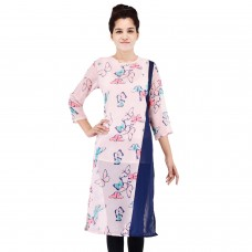 Butterfly Printed Georgette long Kurti