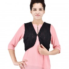 Women black short shrug