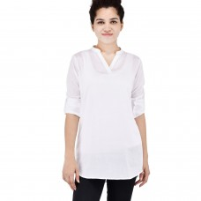 White Rayon Full sleeve kurta