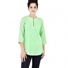 Chartreuse cotton kurta