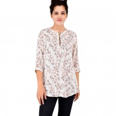 Printed cotton crepe kurta