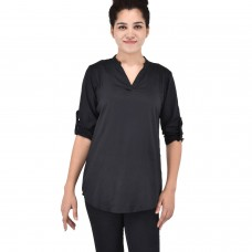 Black Rayon full sleeve kurta