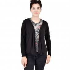 Black printed shrug Top