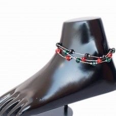 Stylish multicolor beaded anklet