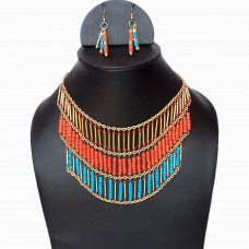 Trendy egyptian inspired necklace set