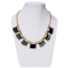 Stylish Black enamelled necklace