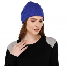 Soft printed multipurpose fabric jersey beanie blue cap for men and women, free size, suitable for all seasons