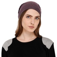 Printed multipurpose fabric jersey beanie cap for men and women, free size, suitable for all seasons