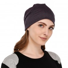 Stylish printed multipurpose fabric jersey beanie cap for men and women