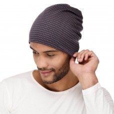 VR Designers Soft printed multipurpose fabric jersey beanie cap for men and women, free size, suitable for all seasons