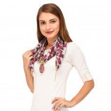 Purple scarf necklace pendant scarf for women