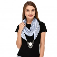 Blue scarf necklace pendant scarf for women