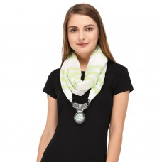 Cream scarf necklace pendant scarf for women