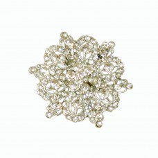 Glitsy glass crystal brooch