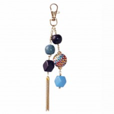Multicolor mixed beads handbag charm