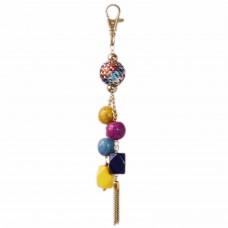 Springcolor mixed beads handbag charm