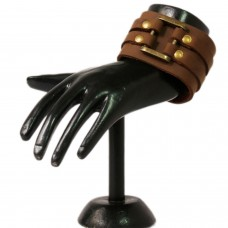 Trendy Brown Strapped Leather wrist band