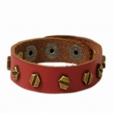 Cool Cherry Color leather wrist band