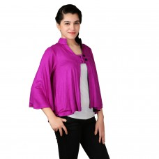 Reversible purple black assymetric shrug