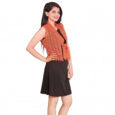 Elegant Orange Lace jacket