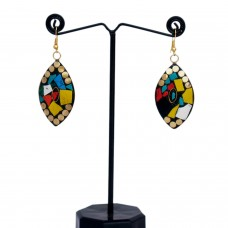 Trendy ethnic multicolor earrings