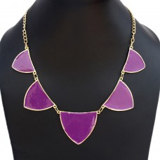 Stylish Purple enamelled necklace