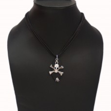 Unisex Silver Skull pendant necklace