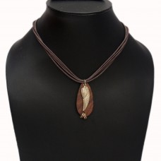 Unisex Golden Leaf pendant necklace