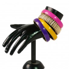 Vibrant Golden and Colorful mix bangle set