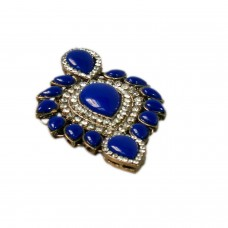 Glitsy blue studed brooch
