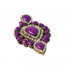 Glitsy purple studed brooch