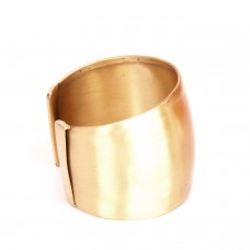 Stylish Wide Golden Cuff