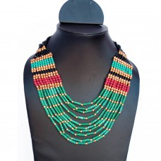 Elegant Multicolour Beads Necklace