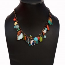 Funky multibead chain necklace