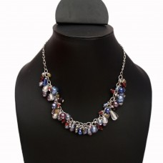 Stylish multibead chain necklace