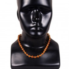 Rudraksh and golden beads unisex necklace