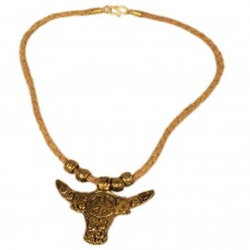 Golden Bull pendant unisex necklace