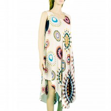Spring colors rayon boho dress