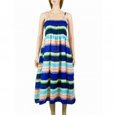 Flowy multicolor singlet maxi dress